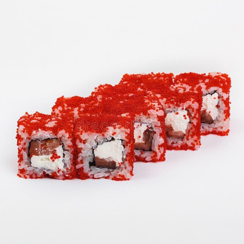O melhor alimento do japonês dos rolos de sushi fotografia de stock royalty free
