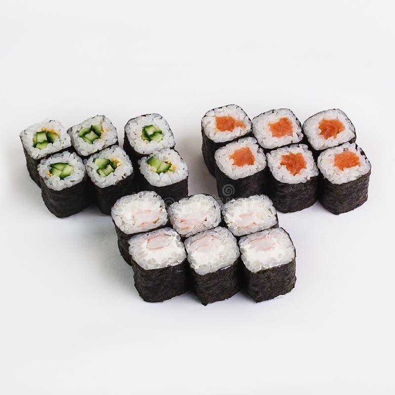 O melhor alimento do japonês dos rolos de sushi imagem de stock royalty free