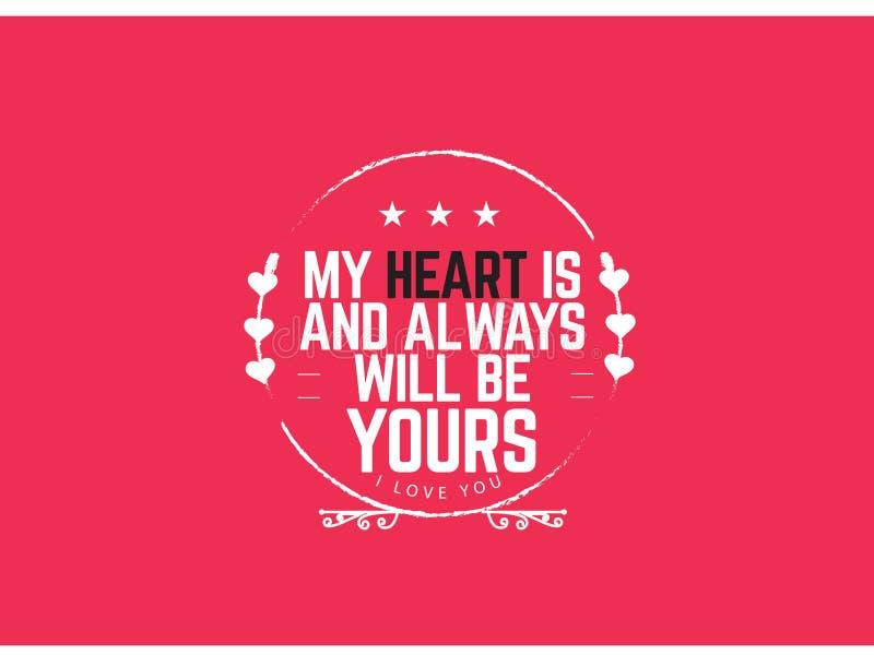 O melhor amor cita, citações inspiradores do amor, citações inspiradores ilustração royalty free
