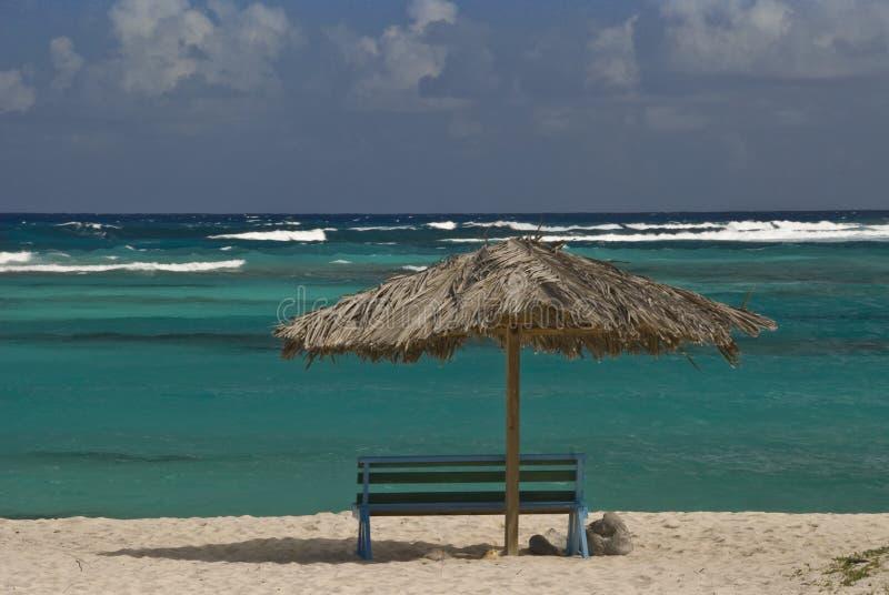O melhor assento na praia fotografia de stock