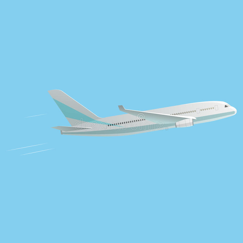 O melhor avião do passageiro ilustração royalty free