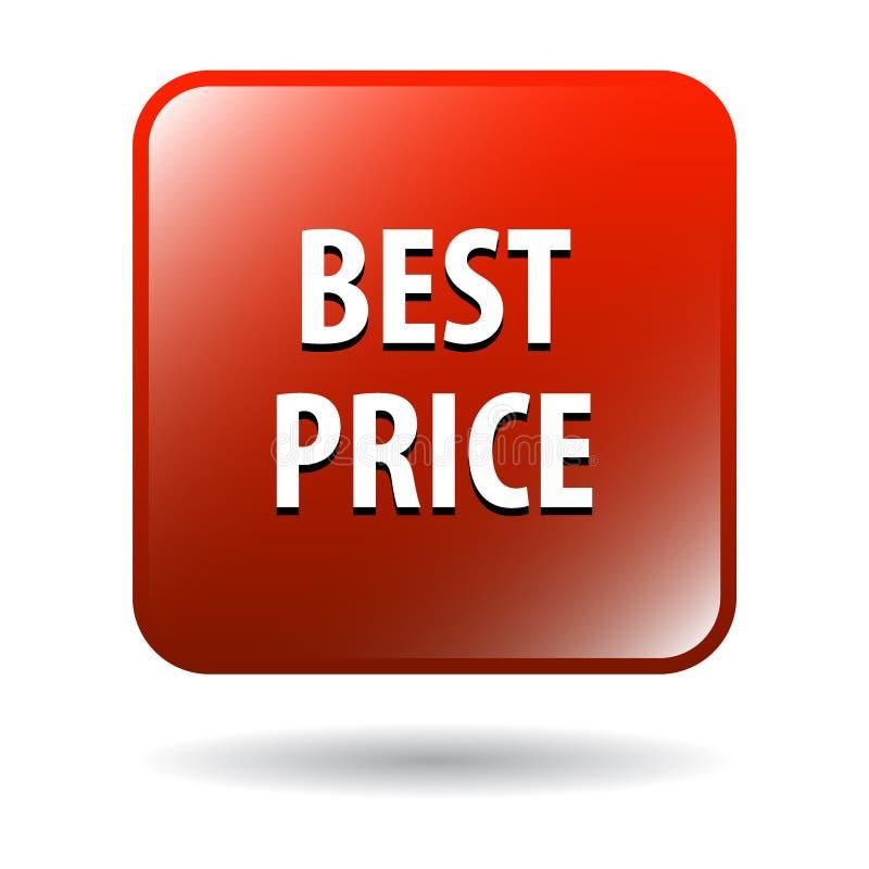 O melhor botão da Web do preço ilustração do vetor