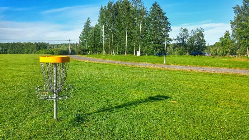 O melhor campo de golfe do disco imagens de stock royalty free