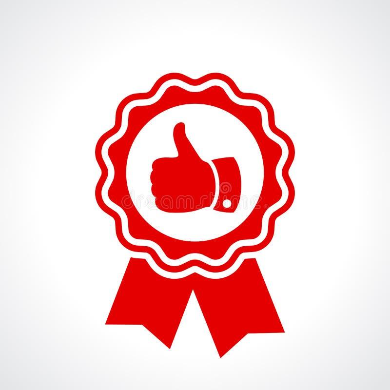 O melhor certificado da garantia de qualidade ilustração royalty free