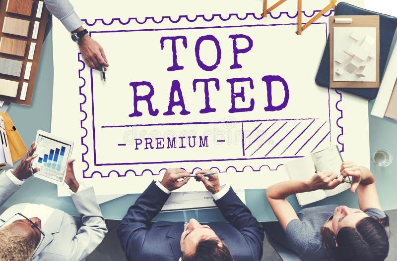O melhor conceito bem escolhido do mercado da mercadoria do produto do vendedor fotografia de stock royalty free
