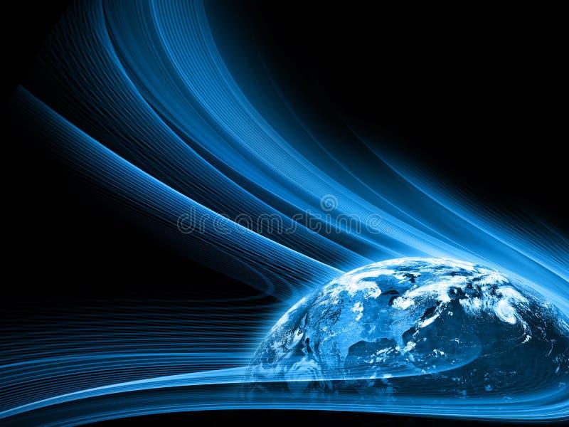 O melhor conceito do Internet do negócio global da série dos conceitos Elementos desta imagem fornecidos pela NASA imagem de stock