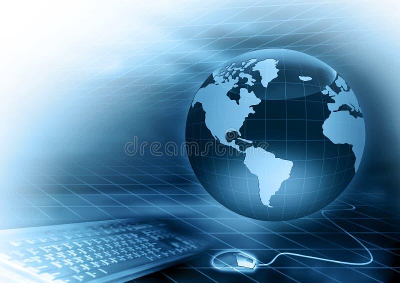 O melhor conceito do Internet do negócio global de concentrado ilustração royalty free