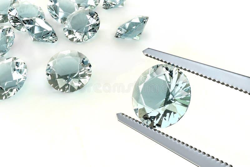 O melhor diamante ilustração stock