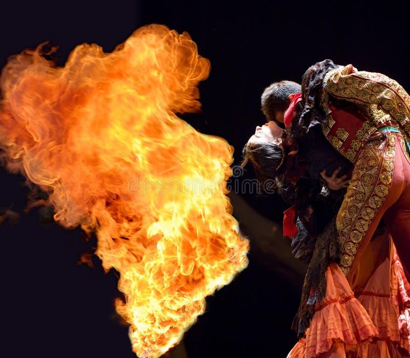 O melhor drama da dança do Flamenco   foto de stock