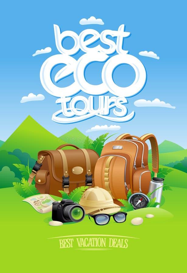 O melhor eco visita, o melhor conceito de projeto dos negócios das férias ilustração royalty free