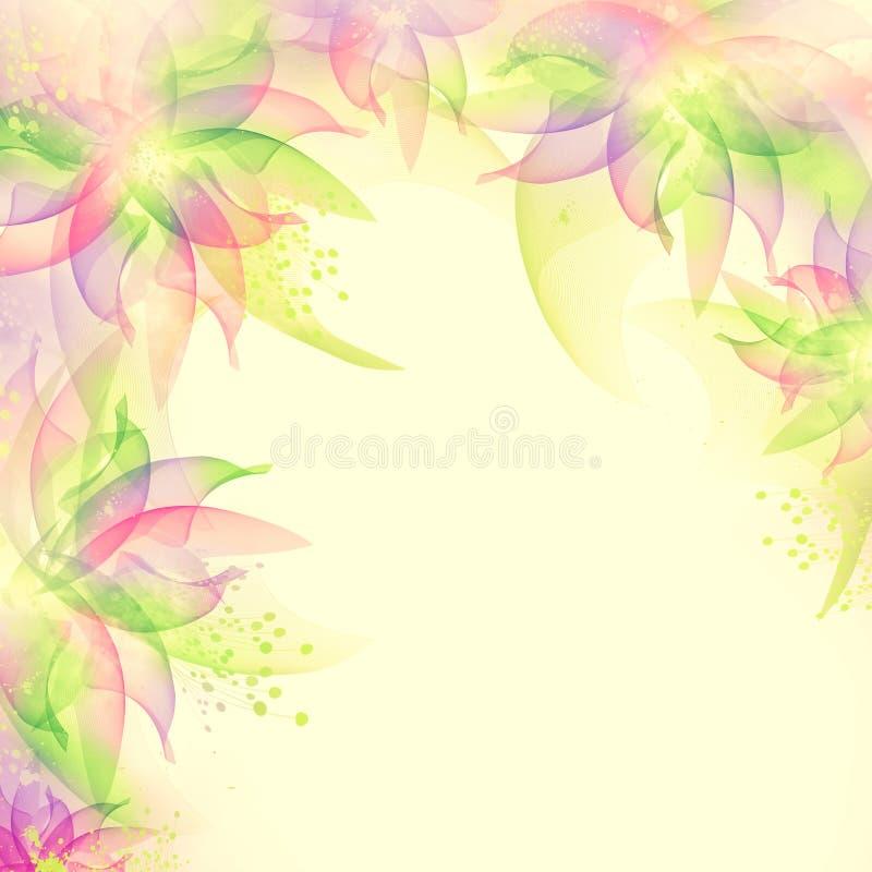 O melhor fundo romântico da flor ilustração do vetor