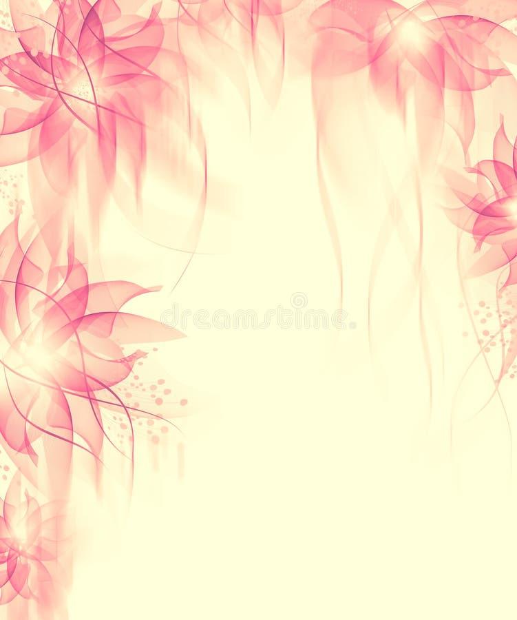 O melhor fundo romântico da flor ilustração royalty free