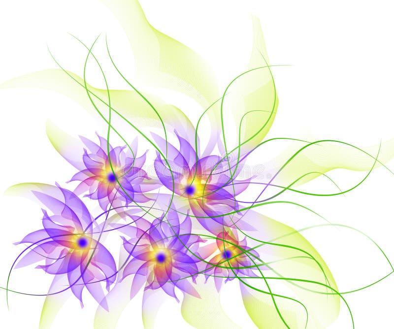 O melhor fundo romântico da flor ilustração stock