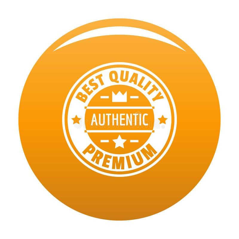 O melhor logotipo da qualidade, estilo simples ilustração do vetor
