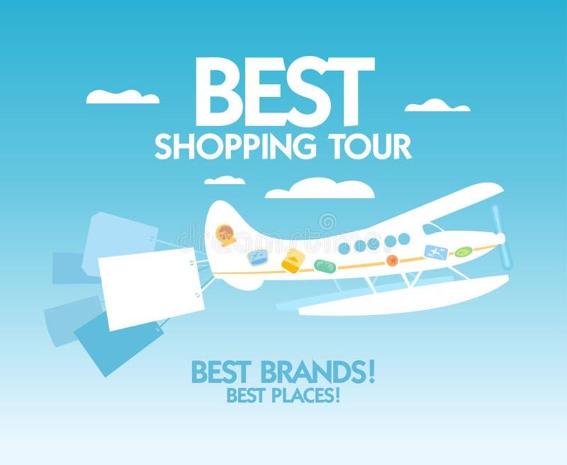 O melhor molde do projeto da excursão da compra. ilustração royalty free