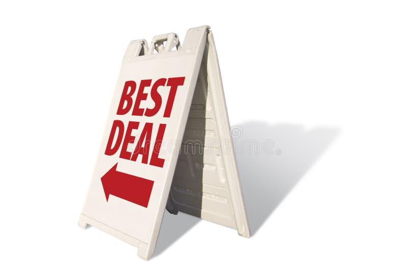 O melhor negócio - sinal da barraca fotos de stock royalty free