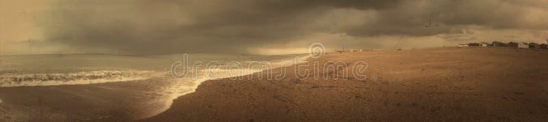O melhor panorama da praia de Southsea foto de stock
