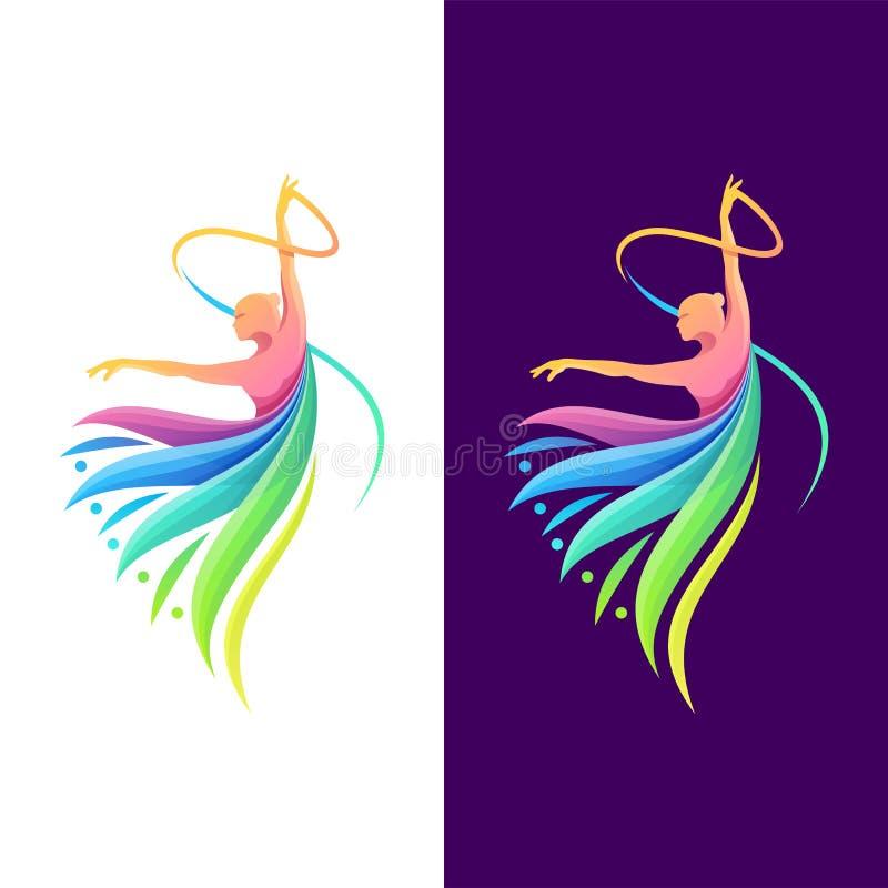 O melhor projeto de dança do logotipo da cor ilustração do vetor