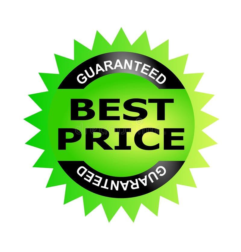 O melhor selo da garantia do preço ilustração royalty free