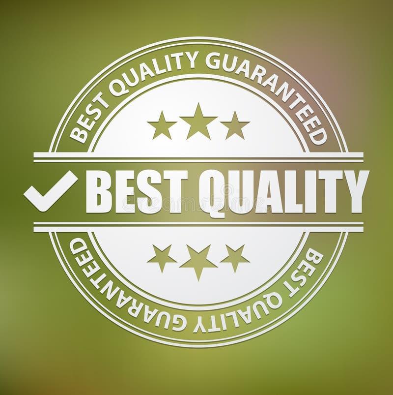 O melhor selo da qualidade, vetor ilustração do vetor