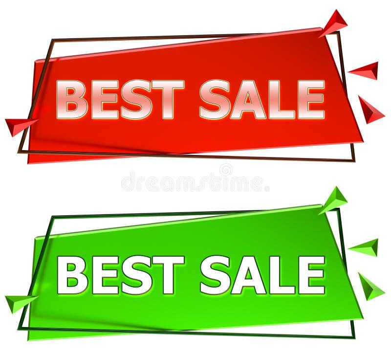 O melhor sinal da venda ilustração stock