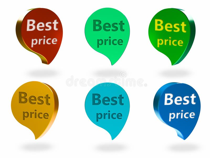 O melhor sinal do preço ilustração do vetor
