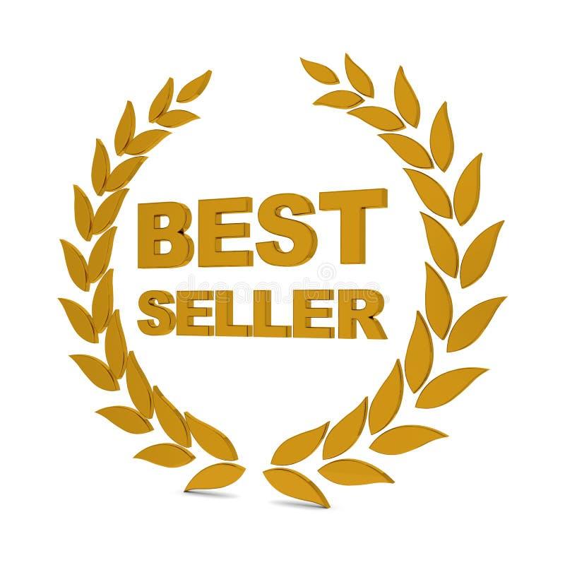 O melhor vendedor ilustração stock