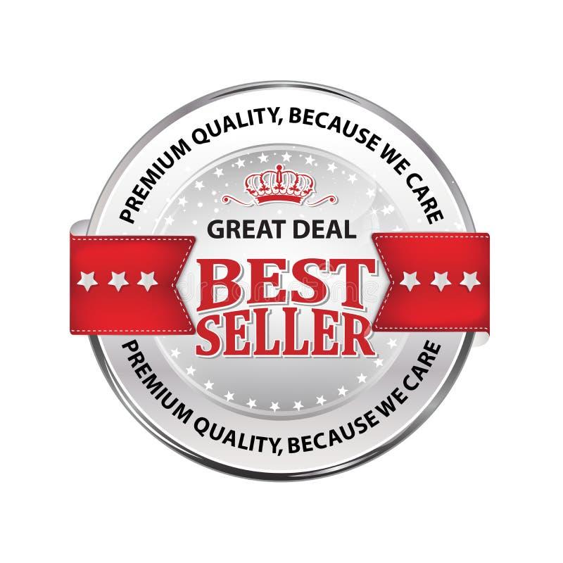 O melhor vendedor, qualidade superior, porque nós nos importamos - ícone luxuoso ilustração royalty free