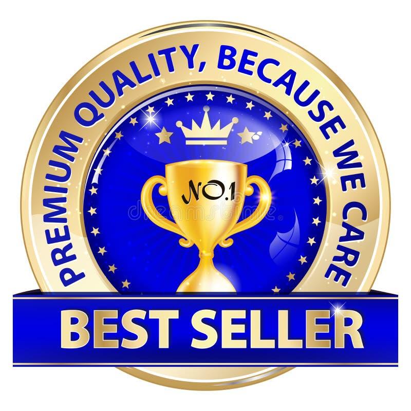 O melhor vendedor, qualidade superior, porque nós nos importamos ilustração royalty free