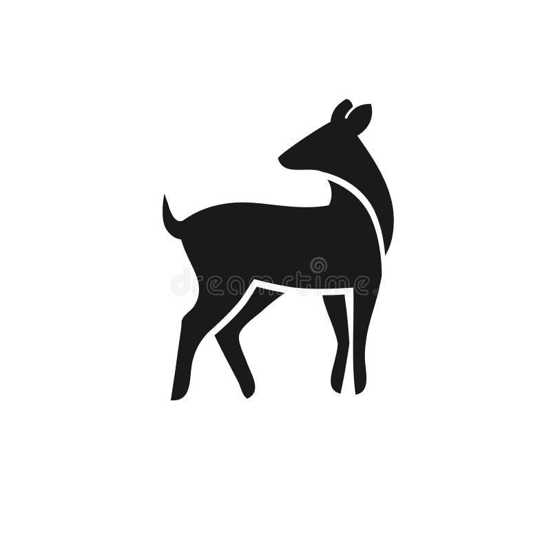o melhor vetor simples do logotipo dos cervos ilustração royalty free