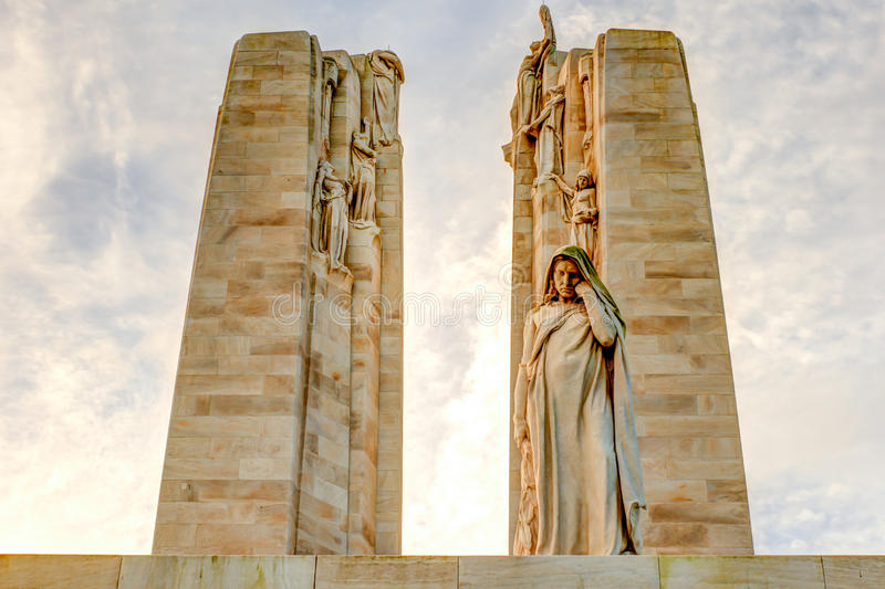 O memorial canadense na guerra mundial 1 de Vimy França imagens de stock
