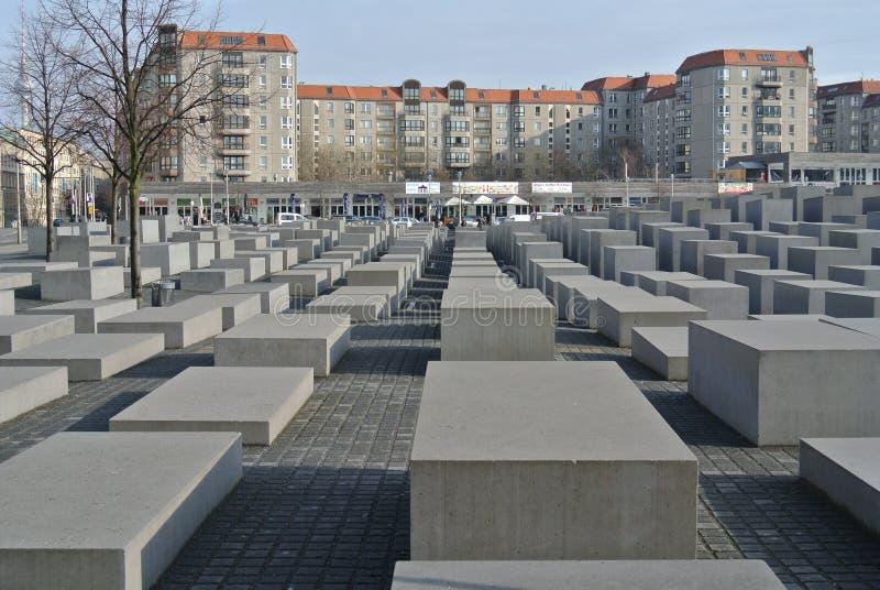 O memorial de Berlin Holocaust imagem de stock