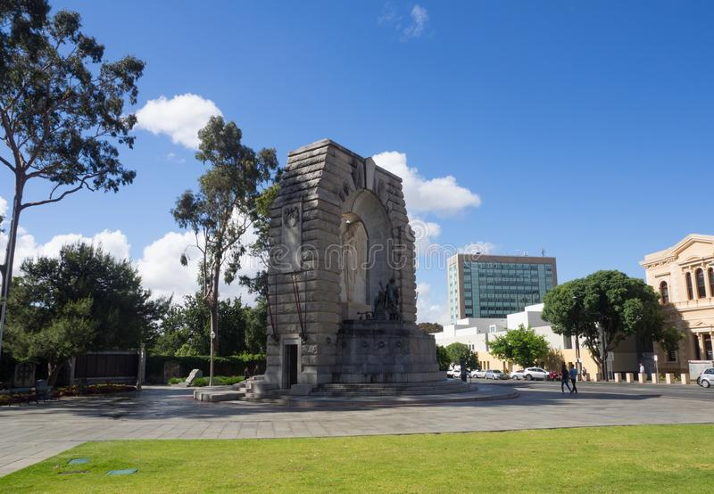 O memorial de guerra nacional é um monumento na borda norte do centro da cidade de Adelaide fotos de stock