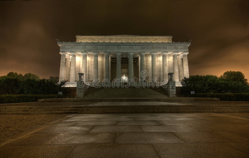 O memorial de Lincoln foto de stock royalty free