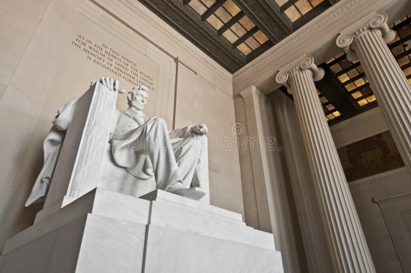O memorial de Lincoln na alameda na C.C., EUA imagens de stock royalty free