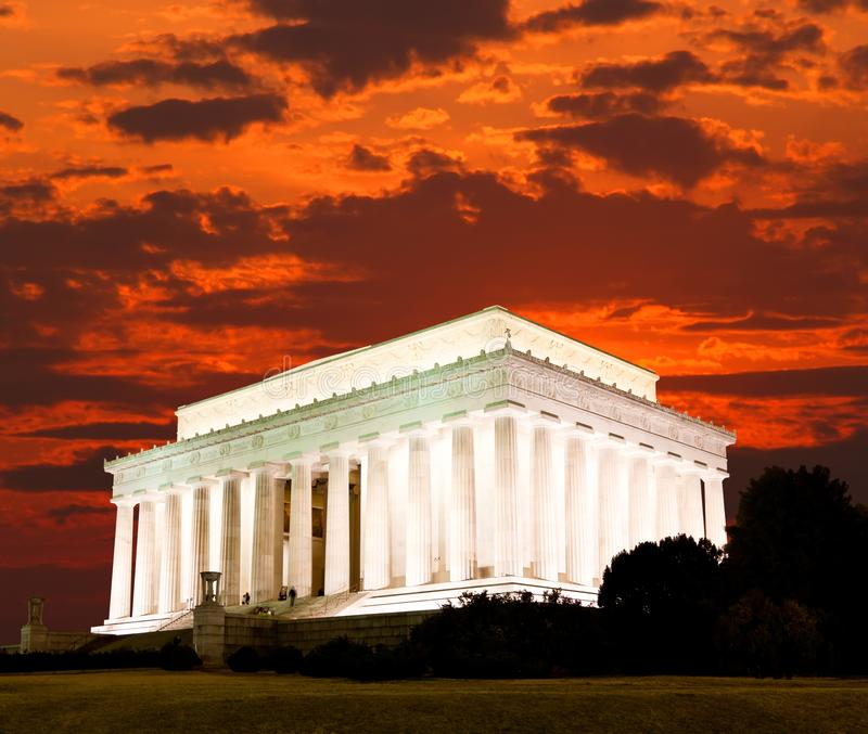 O memorial de Lincoln na C fotografia de stock royalty free