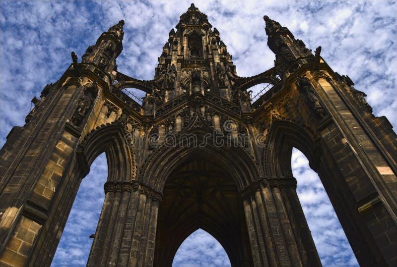 O memorial de Scott em Edimburgo fotos de stock