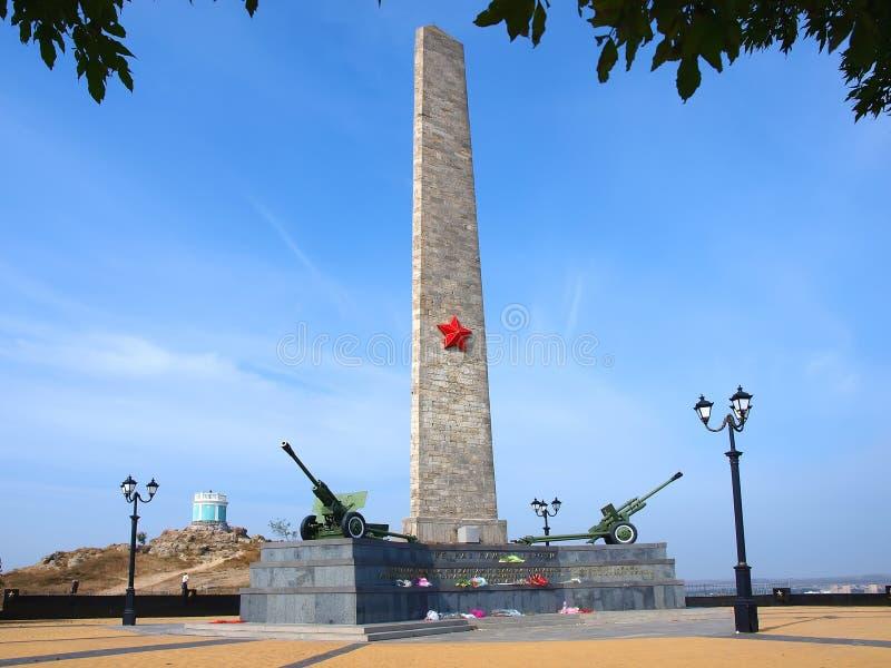 O memorial na montanha Mithridat, Kerch, Crimeia imagem de stock