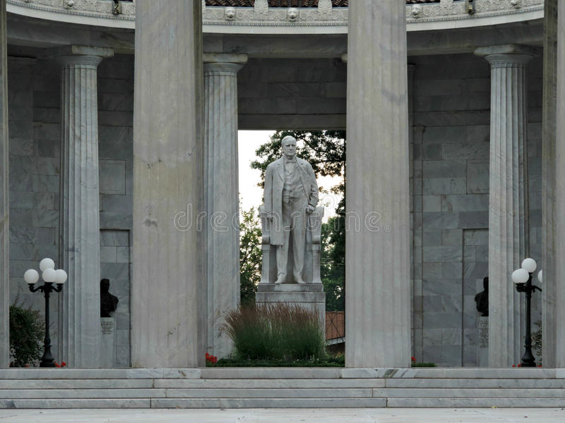 O memorial nacional do lugar de nascimento de McKinley em Niles Ohio imagem de stock royalty free