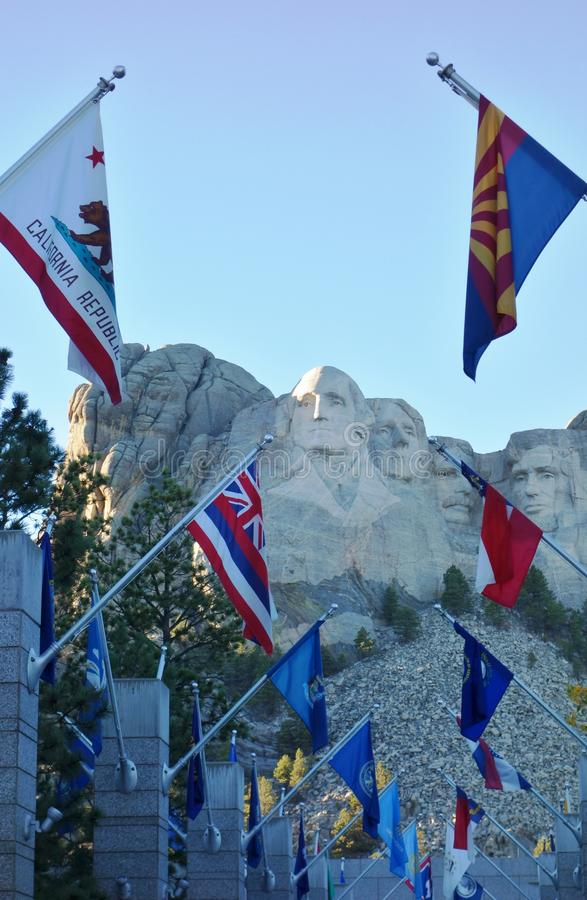 O memorial nacional do Monte Rushmore em South Dakota imagem de stock