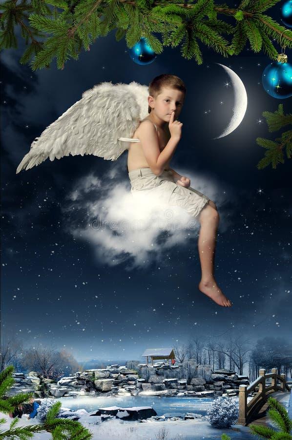O menino-anjo fotos de stock royalty free