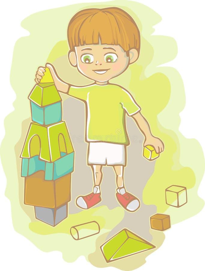 Os jogos do menino ilustração royalty free