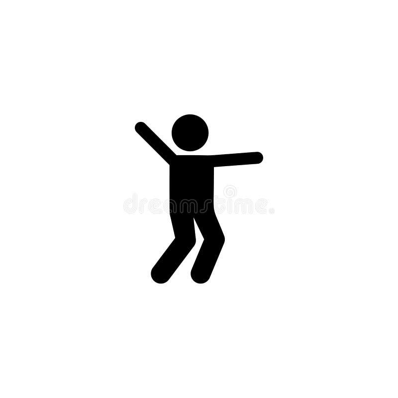 O menino, dança, aprecia, joga o ícone Elemento do pictograma das crianças ?cone superior do projeto gr?fico da qualidade sinais  ilustração royalty free
