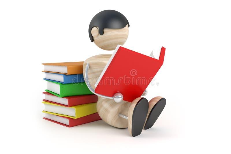 O menino leu o livro ilustração stock