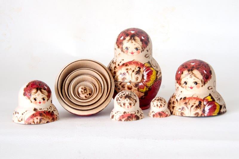 O menor das bonecas do russo de Matrioska imagem de stock