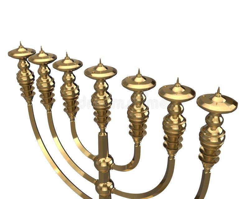 O menorah 3D da vela rende ilustração royalty free