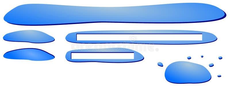 O menu da Web da água imagem de stock