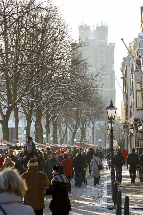 O mercado anual do Natal em Dordrecht foto de stock
