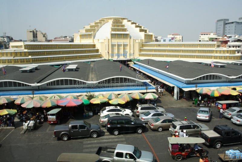 O mercado central, Phnom Penh imagens de stock royalty free