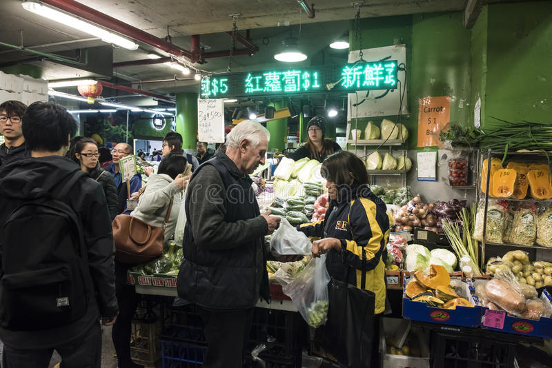 O mercado da almofada, Haymarket - Sydney imagens de stock royalty free